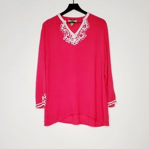 525 American Womens summer pink top